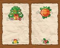 3背景圣诞节纸张 免版税库存照片