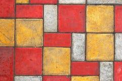 3色的铺路板纹理 免版税库存图片