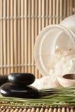 3芳香盐设置温泉疗法 库存照片