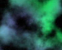 3被绘的星云 库存照片