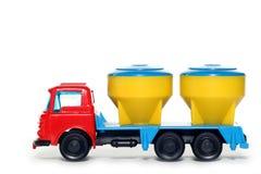 3贝得福得水泥塑料卡车 库存图片