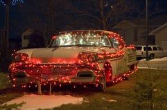 3辆汽车圣诞节 免版税库存照片