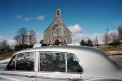 3辆汽车婚礼 库存照片