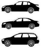 3辆汽车被设置的向量 免版税库存照片