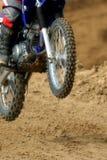 3辆自行车土摩托车越野赛 免版税库存照片