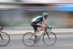 3辆自行车竟赛者 库存图片