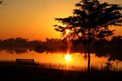 3迈阿密西方公园的日落 免版税库存照片