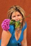 3逗人喜爱的花性感的妇女 免版税库存照片