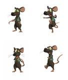 3部动画片鼠标装箱 免版税图库摄影