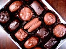 3配件箱巧克力 免版税库存图片
