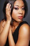 3非洲裔美国人的美丽的女孩 免版税图库摄影