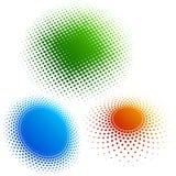 3颜色中间影调环形 免版税库存照片