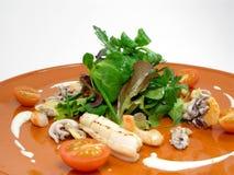 3食物沙拉海运 免版税库存图片