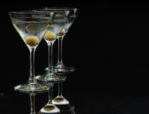 3马蒂尼鸡尾酒s 库存照片