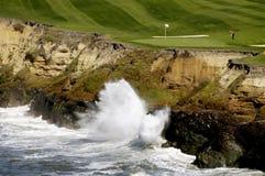 3高尔夫球海运 库存照片