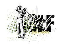 3高尔夫球 免版税库存照片