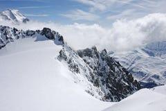 3高山heilbronner峰顶锐化视图 免版税库存照片