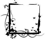 3黑色蝴蝶装饰品蔬菜与 库存照片