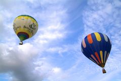 3 ° Erbaluce ballonfestival Caluso (aan) - Italië Royalty-vrije Stock Foto's