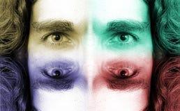 3 ögon royaltyfria foton