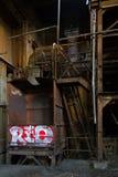3 övergiven fabrik Arkivbild