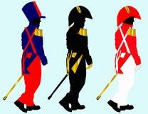 3 żołnierza Obrazy Royalty Free