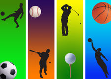 3 αθλητισμός Στοκ εικόνα με δικαίωμα ελεύθερης χρήσης