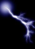 3 απομονωμένη μπλε αστραπή Στοκ Εικόνα