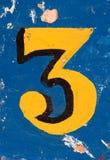 3 αριθμός Στοκ φωτογραφίες με δικαίωμα ελεύθερης χρήσης