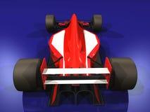3 αυτοκίνητο f1 που συναγωνίζεται την κόκκινη ένταση Στοκ εικόνες με δικαίωμα ελεύθερης χρήσης