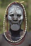 3 αφρικανικοί άνθρωποι mursi Στοκ εικόνα με δικαίωμα ελεύθερης χρήσης