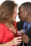 3 γιορτάζοντας ζεύγος ρομαντικό Στοκ Εικόνες