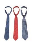 3 γραβάτες Στοκ εικόνες με δικαίωμα ελεύθερης χρήσης