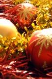 3 διακοσμήσεις Χριστου&ga Στοκ φωτογραφία με δικαίωμα ελεύθερης χρήσης