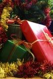 3 δώρα Χριστουγέννων Στοκ φωτογραφίες με δικαίωμα ελεύθερης χρήσης