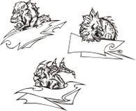 3 καθορισμένα πρότυπα τεράτ& απεικόνιση αποθεμάτων