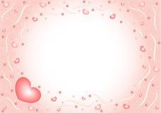3 καρδιές nacreous Στοκ φωτογραφία με δικαίωμα ελεύθερης χρήσης