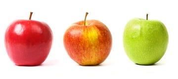 3 μήλα Στοκ φωτογραφίες με δικαίωμα ελεύθερης χρήσης