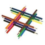 3 μολύβια χρώματος Στοκ εικόνες με δικαίωμα ελεύθερης χρήσης