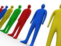 3 πολύχρωμοι άνθρωποι Στοκ εικόνα με δικαίωμα ελεύθερης χρήσης