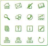 3 πράσινα εικονίδια κανένα&sigma Στοκ Εικόνες