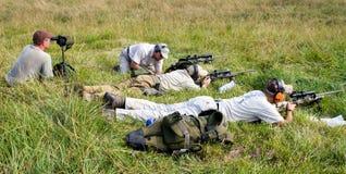 3-πυροβόλο όπλο ανταγωνισμός φιλανθρωπίας Στοκ εικόνα με δικαίωμα ελεύθερης χρήσης