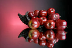 3 σειρές μήλων στοκ εικόνες