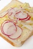 3 σειρές σάντουιτς Στοκ Εικόνες