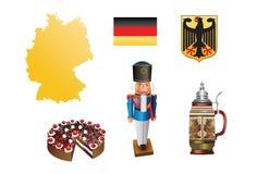 3 σειρές της Γερμανίας χωρώ& Στοκ εικόνες με δικαίωμα ελεύθερης χρήσης