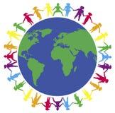 3 σε όλο τον κόσμο χεριών Στοκ εικόνα με δικαίωμα ελεύθερης χρήσης