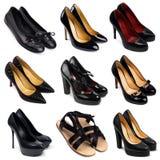 3 σκοτεινά θηλυκά παπούτσια Στοκ φωτογραφίες με δικαίωμα ελεύθερης χρήσης