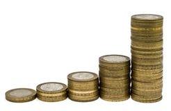 3 στήλες νομισμάτων Στοκ εικόνες με δικαίωμα ελεύθερης χρήσης
