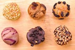 3 τρελλό muffin σύνολο Στοκ Εικόνες