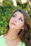 3 όμορφες υπαίθριες νεολαίες brunette headshot Στοκ εικόνα με δικαίωμα ελεύθερης χρήσης